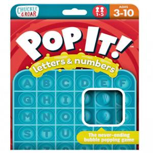 Chuckle & Roar Pop It! Letters & Numbers Fidget Bubble Toy Educational Learning