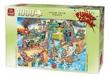 Funny Comic Collection 1000 Pièces Train à vapeur Pirates Ship Battle Jigsaw Puzzle