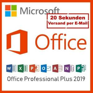 Microsoft Office 2019 Professional Plus ESD Deutsch E-Mail Online Aktivierung