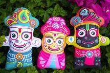 "Jagannath Doll Set 8"" & 7.5"" - Jagannath Baladev Subhadra Soft Dolls ( DSJG)"