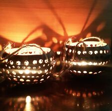 2pcs Coconut Shell Candle Tealight Hanging Lamp Wooden Home Decor Night Light
