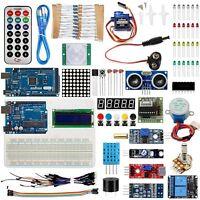 Full Arduino Starter Kit for UNO R3 Mega2560 LCD Servo Motor Sensors Breadboard