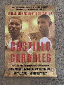 Castillo vs Corrales Signed Rare On-Site Poster (LOA) (19x28)