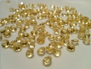 Gold Scatter Crystals 6.5mm Wedding Table Decoration Acrylic Confetti Gems