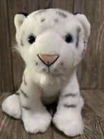 "Wild Republic White Tiger Cub Plush Stuffed Animal 12"" Striped Blue Eyes Cat"