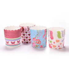50X taza de papel desechable para hornear cupcake muffin casera Fit Home PartyVP