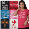 Religious Tees Shirt Cross Fitted Woman Gifts T Shirts For Ladies Womens Tshirts