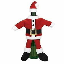 Santa Suit Wine Bottle Cover Table Party Decor Entertaining Hostess Gift