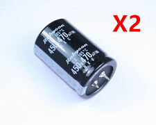 2x New 470uF 450V 470MFD 450Volt Electrolytic Capacitor 35mm x 50mm Radial HOT