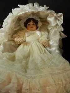 Marie Osmond Porcelain Doll BABY BRU Christening Day Ltd. Ed. 250, Hard To Find