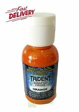 DNA TRIDENT AIRBRUSH PAINT ORANGE WATER BASED 50ML AUTO CANVAS DIY BRUSH