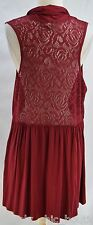 CWC Coldwater Creek layer Top Vest sleeveless duster jacket lacey lace SZ M NEW