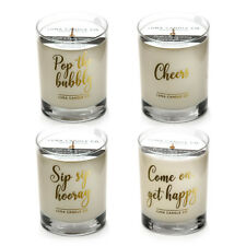 """""""Let's Get Lit"""" Soy Wax Scented Luxurious Candles - Gift Set -11 Oz Jar 4PK"""