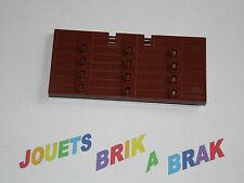 Lego porte Door 1x5x8 1/2 Stockade Chateau castel RedishBrown ref 87601