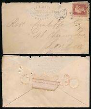 IRELAND 1866 MALLOW NUMERAL + CDS...EMBOSSED ADVERTISING WEBB QUARTERTOWN