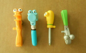 """Disney Handy Manny Lot of 4 Tiny Tools 3"""" Hammer Wrench Pliers Screwdriver"""