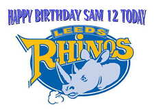 LARGE A5 GLOSSY PERSONALISED SUPER LEAGUE LEEDS RHINOS BIRTHDAY CARD