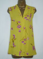 PRINCIPLES LIME YELLOW PURPLE FLORAL SLEEVELESS BLOUSE TOP SIZE 16 BNWT