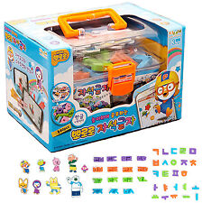 Pororo Magnetic letters Korean alphabet Hangul 80pcs Toy Character Education Kid