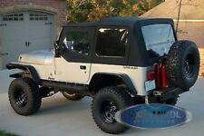 88 95 Jeep Wrangler Replacement Soft Top Upper Skins Black Premium Material Fits Wrangler