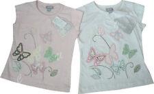 Girls' Ruffle Short Sleeve Sleeve 100% Cotton T-Shirts, Top & Shirts (2-16 Years)
