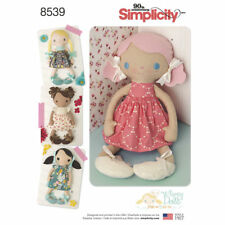 "Simplicity SEWING PATTERN 8539 15""/38cm Stuffed Toy Dolls & Clothes"