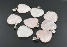 Natural rose quartz stone Love Heart Charms Pendants 20mm 10pcs/lot Wholesale