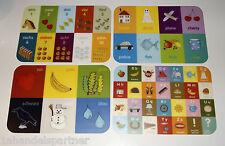 120 Stück Kinder Tischsets Tischet Sonderposten Restposten Set 4 Motive Neu OVP