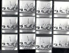 Boudoir Nude on Bed w/Mirror HENDRICKSON Negative Photographs Contact Sheet D815