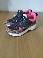 Replay Whiteville Womens Wedge Trainers In Pink Leopard UK 5 EU 38 RRP £89