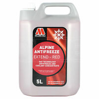 Millers Alpine Antifreeze Extend - Longlife Red Antifreeze / Coolant 5 Litres 5L