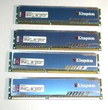 Lot de Ram 8gb 8go 4*2gb ddr3 pc3 12800U1600mhz Kingston hyperX pour intel
