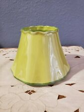 Yankee Candle Co Lime Green Ceramic Large Medium Jar Shade *read description *