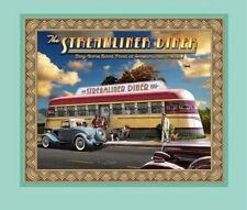Artworks VIII Retro Diner Streamliner Train Car Fabric Pillow Panel