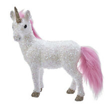 Kurt Adler Unicorn Pink Mane White Glitter Christmas Tree Ornament Decor Gift