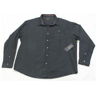 New Six Lincoln Black Pocket Dress Shirt Cotton Mans Long Sleeve Size 3X XXXL