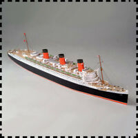 1:400 Scale British Royal Mail Steamer RMS Queen Mary Ocean Liner Paper Model