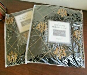 "2 Croscill Home EUROPEAN EURO Pillow Shams VENEZIA - 27 X 27"" - Set Of 2 NEW"