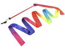 Gymnastikband Wirbelband Tanzband Regenbogenband Schwungband mit Stab #3820
