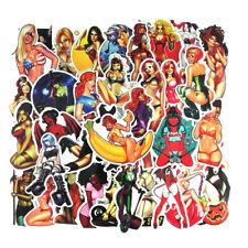 35Pcs/lot Tease Devil Girl Sexy Beauty Girls Pvc Waterproof Stickers For Laptop