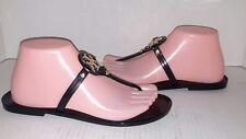 Tory Burch Mini Miller Jelly Black Thong Flip flops Size 7