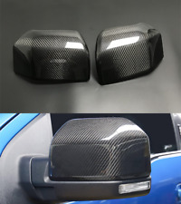 Real Carbon Fiber For Ford F150 F-150 2015-2020 Side Wing Rearview Mirror Cover