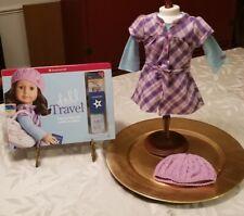 AMERICAN GIRL DOLL PRETTY & PLAID DRESS & DOLL TRAVEL BOOK GRACE JOSS LEA