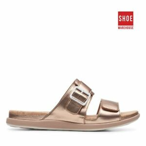 Clarks STEP JUNE SUN Pink Womens Self Fastening Strap Casual Synthetic Sandals