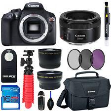 Canon EOS Rebel T6 (Body) + Canon EF 50mm f/1.8 STM Lens + Expo-Basic Bundle