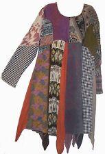 Nwt FUNKY STUFF hippy boho patch cotton rayon wool hanky TOP TUNIC DRESS 2X 3X