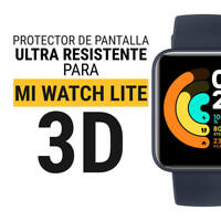 "Sentete® 1x Xiaomi Mi Watch Lite ""3D CURVO"" Protector Pantalla ULTRA RESISTENTE"