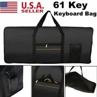 Portable 61 Key Keyboard Electric Piano Padded Case Gig Bag For YAMAHA CASIO US