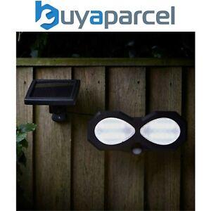 Smart Garden Twin Head Solar PIR Security Light Motion Sensor Wall Light
