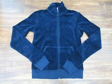 $98 Juicy Couture Velour Track Jacket in Regal Blue Size: Small